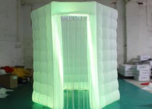 China White Octagon Photo Booth Tent Reinforce 210 D Oxford Material Easy Assembly on sale