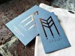 Rose Gold Foil Stamped Business Card Copper Foil Hot Stamped Name Card