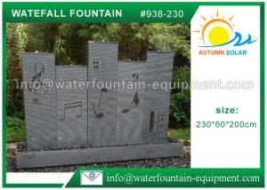 China Music Waterfall Cast Stone Garden Fountains For Indoor / Outdoor Use 230 * 60 * 200cm on sale