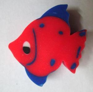 China Cute Fish Shape Cartoon Pencil Rubber Eraser Flat Rubber Eraser Eco Friendly on sale