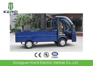 China Low Noise 4 Wheels Electric Cargo Van Utility Cart With Stainless Steel Cargo Box on sale