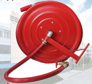 China Red Fire Hose Reel And Cabinet Automatic / Manual Swinging Fire Fighting Hose Reel on sale