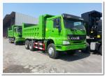 HOWO 6 by 4 dump truck / tipper truck for mine and rock middle lifting 336hp green color