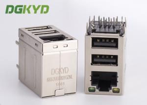 China 1 * 1 étiquette vers le haut de connecteur de RJ45 USB avec le transformateur de 10/100M pour l'appareil-photo d'Internet, USB RJ45 avec mené on sale