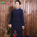 Washable Traditional Chinese Clothing Tang Suit With Blouse And Skirt Set