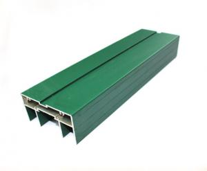 China Green Rectangle Anodized Aluminum Profiles Customized For Construction on sale
