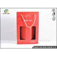 Custom Made Kraft Packaging Boxes Corrugated Storage Boxes With Ribbon Handles