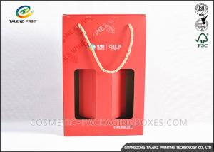 China Custom Made Kraft Packaging Boxes Corrugated Storage Boxes With Ribbon Handles on sale