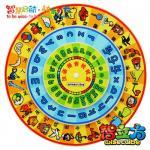 Juguetes educativos de madera baratos de la niñez temprana de la placa giratoria de Pinyin /Character del chino para los niños