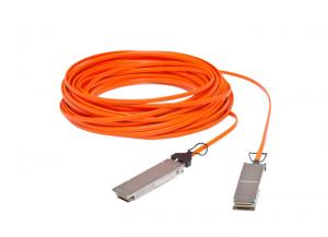 China 3.3V 40G QSFP+ AOC Active Optical Cable OM3 MMF With PVC Jacket on sale
