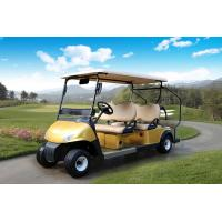 LED Headlights  4 Seats Club Car Electric Golf Cart With Nylon Belt For Golf Bag