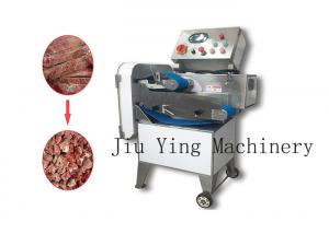 China Durable Electric Meat Bone Cutter With Conveyor / Rib Cutting Machine on sale