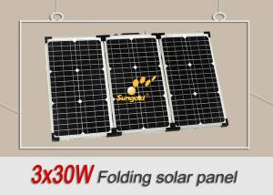 Quality Portable 12V 90W Folding Solar Panels For Motorhomes / Camping / Caravan for sale