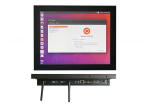 China Ubuntu System Industrial Touch Panel PC 5 Wire Resistive Touch Screen on sale