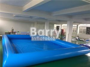 China Durable Blue Kids Square Inflatable Swimming Pool With Inflatable Water Toys on sale