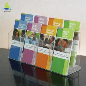 China Fashion Clear Acrylic Brochure Holders A4 A5 Countertop Information Brochure Holder on sale