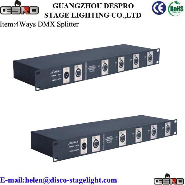 4CH DMX splitter for LED par lights /Moving Head /Beam light