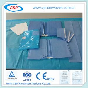 Quality Non-woven/PP/SMS Medical surgery drape Kit for doctor use for sale