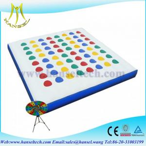 China Hansel inflatable reinforce bouncing mat with blower on sale