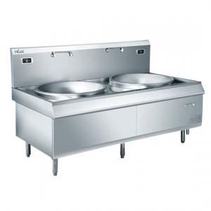 China Commercial Single / Double Big Wok Induction Cooker Burner Cooking Range 380V 50Hz on sale