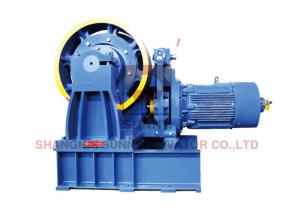 Passenger Lift Parts / Geared Traction Machine With Gear Motor