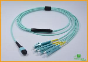 China High Density PVC MPO Fiber Optic Cable Breakout Multimode OM3 CATV Networks on sale