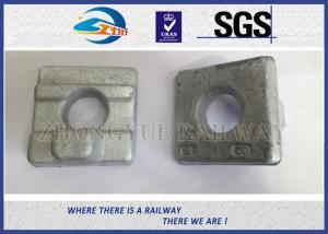 China Crane Rail Clips For Railroad Construction / Railway Fasteners KPO Rail Clamp on sale