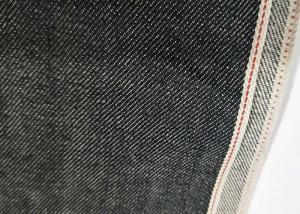 China Black Raw Selvedge Denim Fabric 11.2oz Cotton 32/33 Width W93828A With Slub on sale