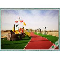 Plastic 4 Tone Natural Landscaping Artificial Grass For Garden Decoration