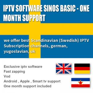 China Subscription 1000 Exclusive Software  Live / VOD 1 Month , Android  / IOS IPTV Box Sweden on sale
