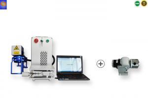 China Portable 3D Fiber Laser Marking Machine , 3D Metal Engraving Machine 20W/30W/50W on sale