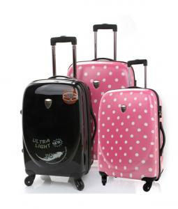 China Pure PC travel trolley luggage on sale