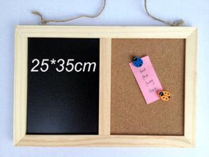 China wooden combination boards combine notice blackboard,chalkboard 25*35cm on sale