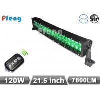 21.5 Inch Curved 120W Led Light Bar Green White Strobe Lighting Bar