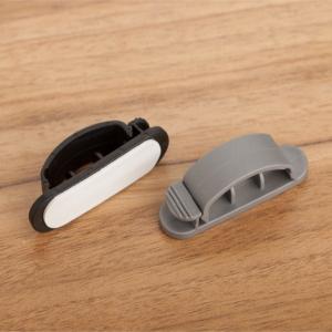 China Organizador preto/branco/cinzento personalizado do cabo grampeia a gestão do cabo do Desktop on sale