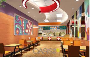 China Four-seat fast food set on sale
