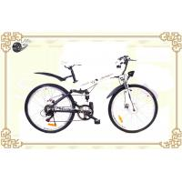 "Fashion White 26"" Folding Mountain Electric Bicycle with Aluminum Alloy Frame"