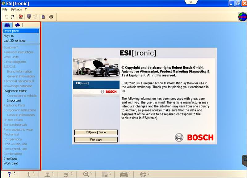 Bosch ESI Tronic 2012 Q1 Software Display-1