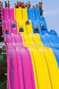 China Aqua Park Spiral Slide Water Park Equipment / Water Funny Game For Adults on sale