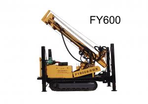 China 600 Meter Deep Water Well Drilling Rig With Air Compressor Drilling Tools on sale