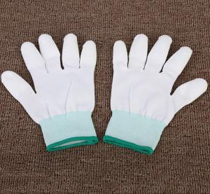 China White dipping safety PU gloves White PU Coated Nylon Glove PU Coated Gloves on sale