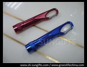 China Flashlight Let carabiner key chain, mini metal carabiner on sale