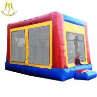 China Hansel 0.55 pvc trampoline park inflatable party rental equipment for sale on sale