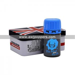 AWJpoppers Wholesale 40ML Iron Box The Blue Devil Poppers