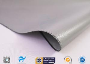 China 15oz Gary Color 4HS E Glass Silicone Coated Fiberglass Fabric , Silicone Coated Glass Cloth on sale