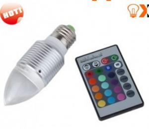 China 3w E27 Red,Green,Blue RGB Color Changing Remote Controlled LED Light Bulbs AC90 - 240V on sale