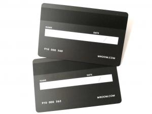 China Wear - Resistant Metal Membership Card / Hico Magnetic Stripe Bank Credit Shopping Cash Card on sale