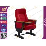 鋼鉄足、市庁舎の赤い座席を搭載する純木の アームレスト 教会ホールの椅子