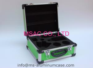 China Green Aluminum Hard Case With Die Cut EVA Inside For Medical Accessories on sale