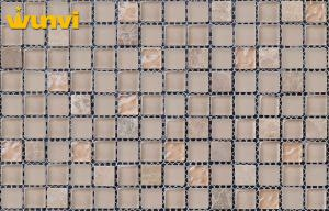 China OEM Restaurant Decorative Glass Ceramic Mosaic Tiles With Variation Design on sale